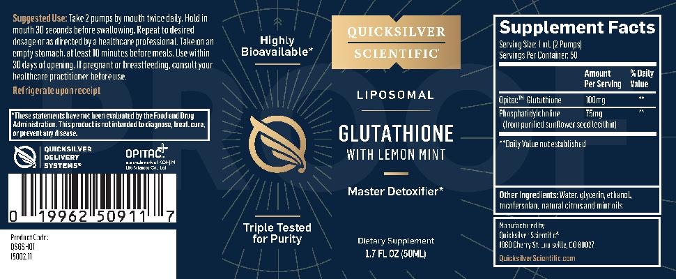 Quicksilver Scientific Liposomal Glutathione