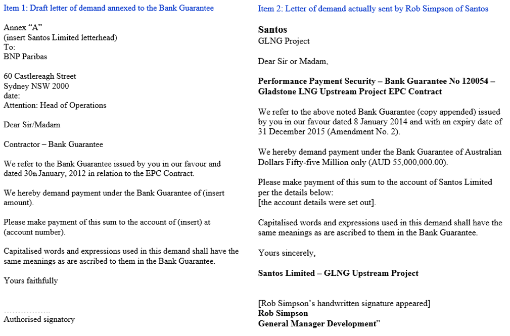 2	Comparison of the annexed draft letter and the letter actually sent by Rob Simpson: