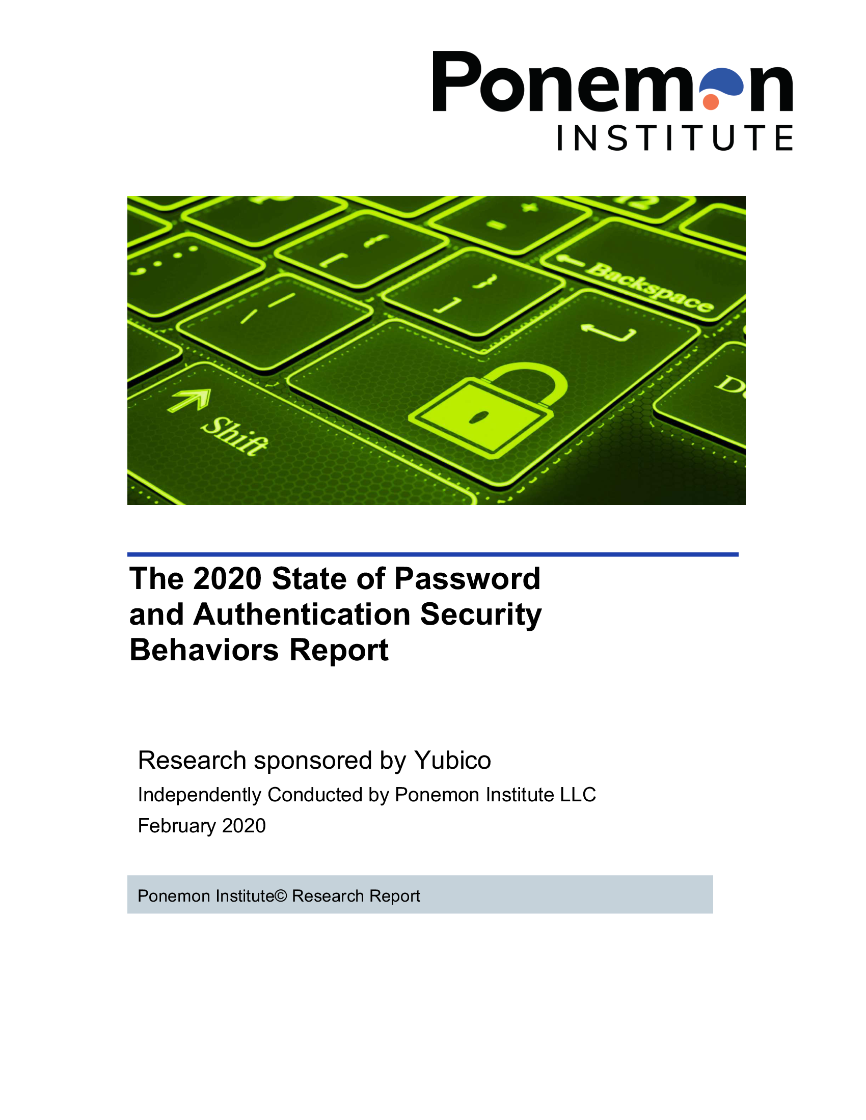 The 2020 Ponemon report - cover