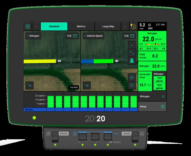 Screenshot of the 20|20 monitor.