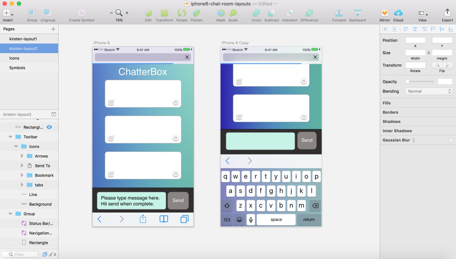 Sketch chat app comp