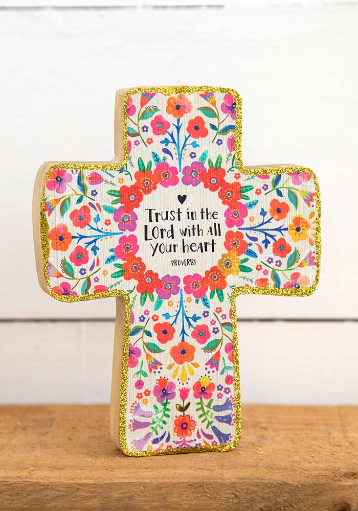 wooden cross trust in the lord