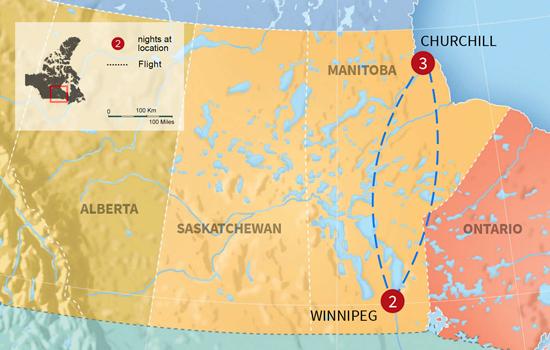 Northern Lights of Churchill - Map