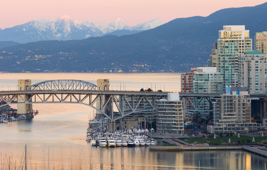End your journey in beautiful Vancouver on the west coast.