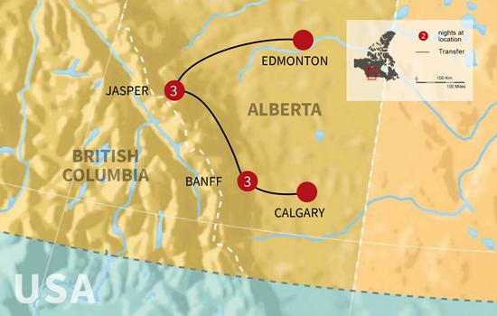Canadian Rockies Winter Adventure - Map