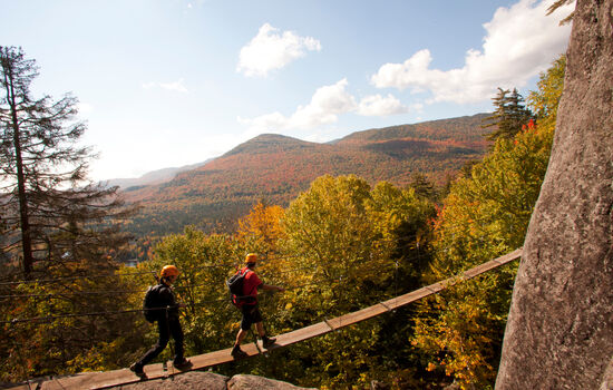 Try a Via Ferrata course for beginners in Mont-Tremblant National Park
