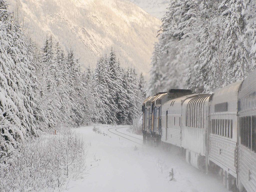 Sleeper Train Across Canada in Winter
