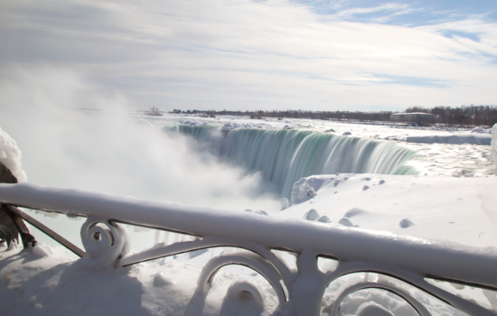 See icy Niagara Falls on a day tour.