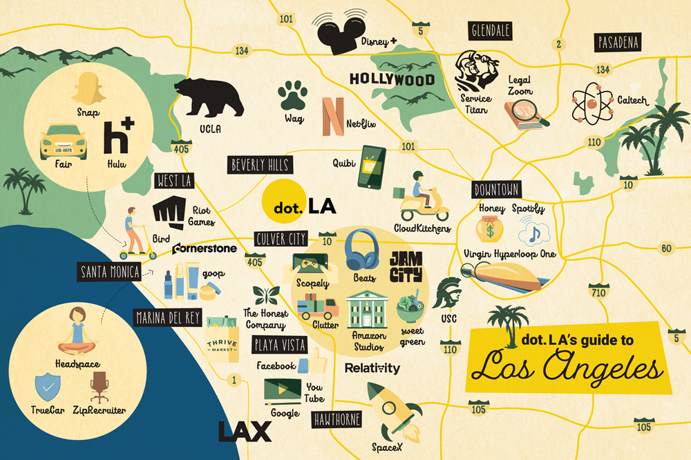 dot.LA Map of Los Angeles Startup Scene