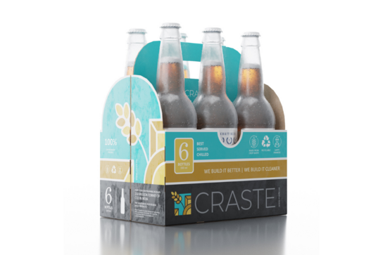 Craste sustainable packaging six pack