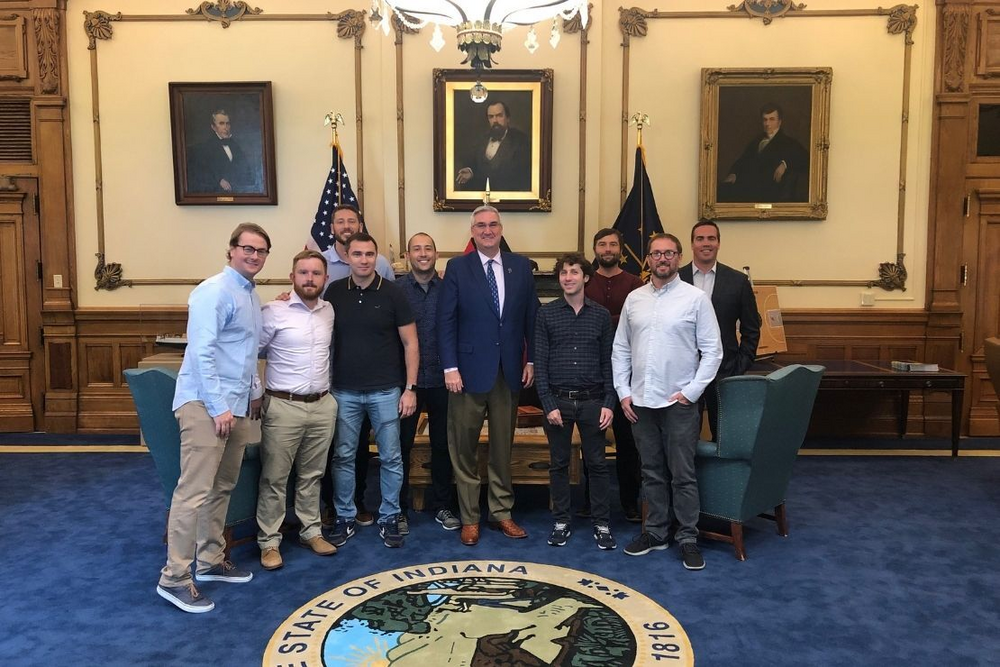 Indy sports tech ecosystem - visit to the governor's office