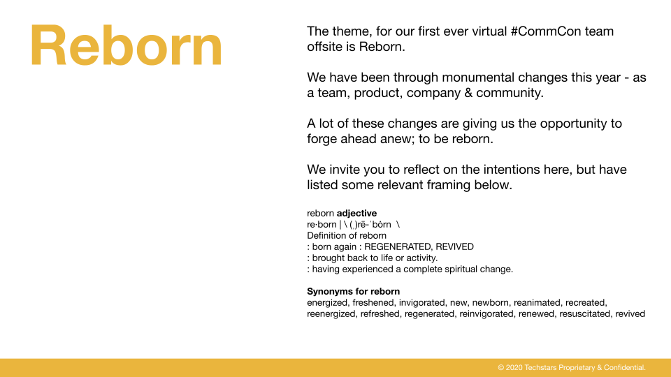 Community Offsite - Reborn theme