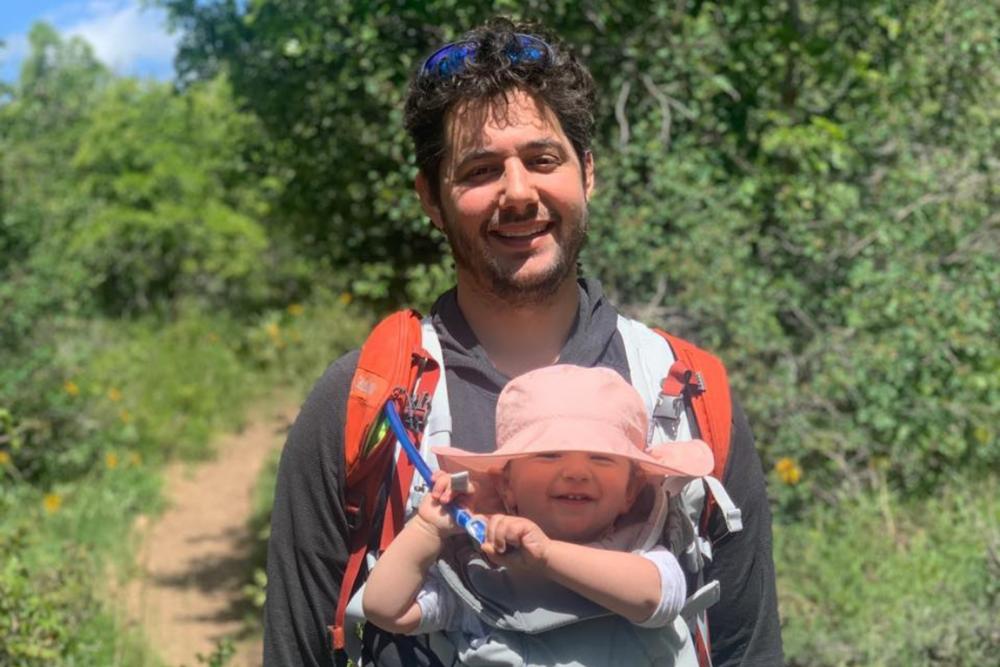 Matt Serel with baby