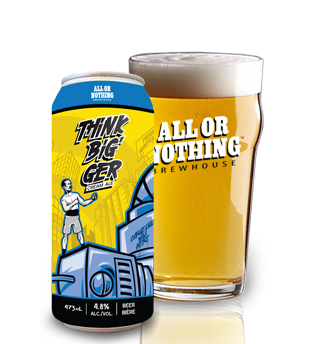 ALL OR NOTHING THINK BIGGER CREAM ALE