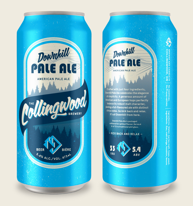 THE COLLINGWOOD BREWERY DOWN HILL PALE ALE