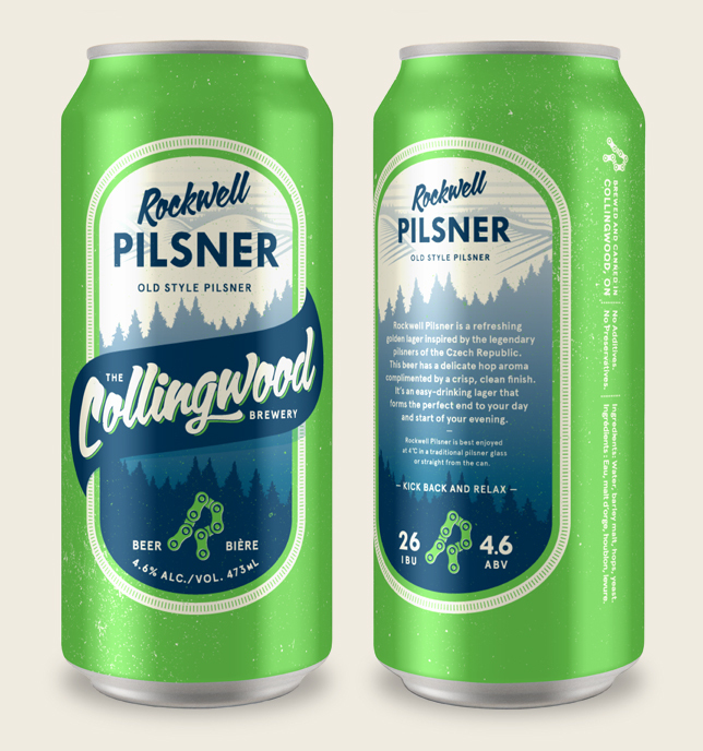 THE COLLINGWOOD BREWERY ROCKWELL PILSNER