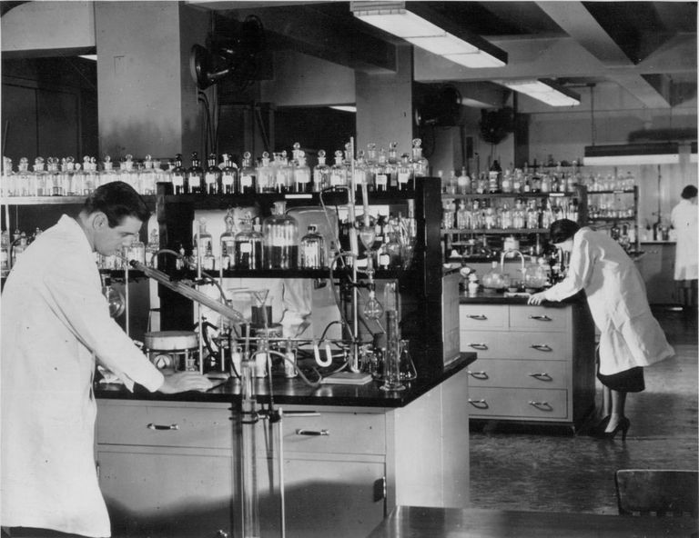 Analysts and experts performing product tests in the Good Housekeeping Institute