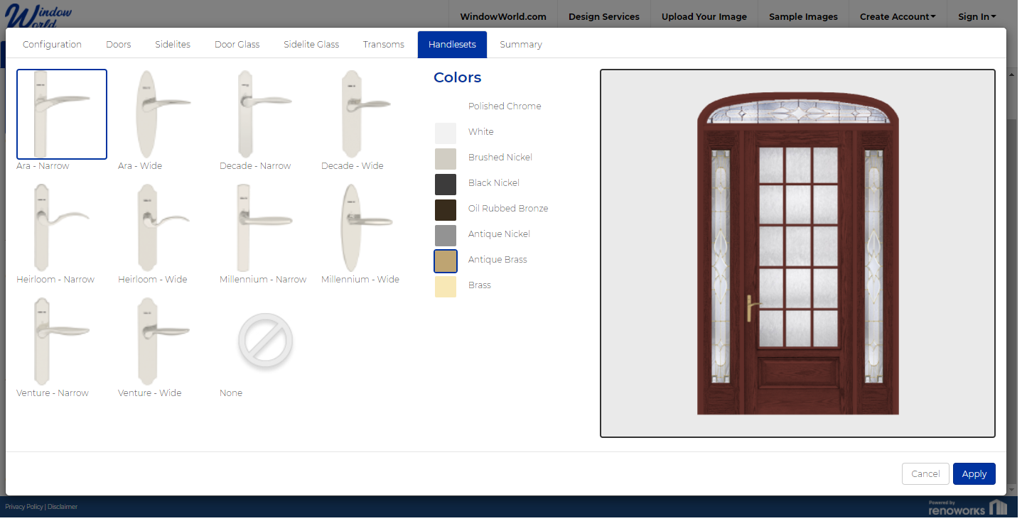 Designing a front door, adding hardware, and color