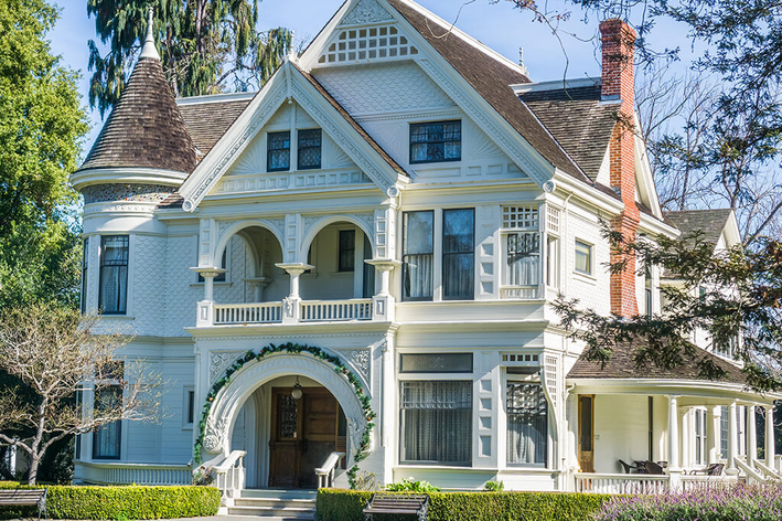 White Victorian home style