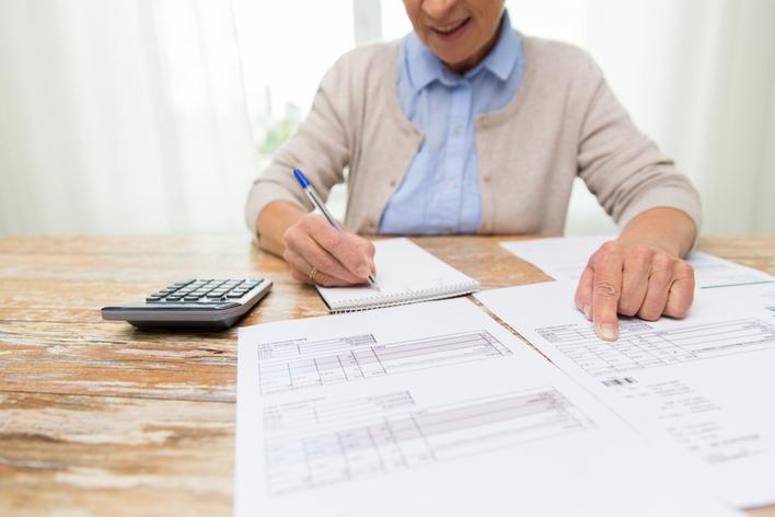 Woman preparing for home energy audit