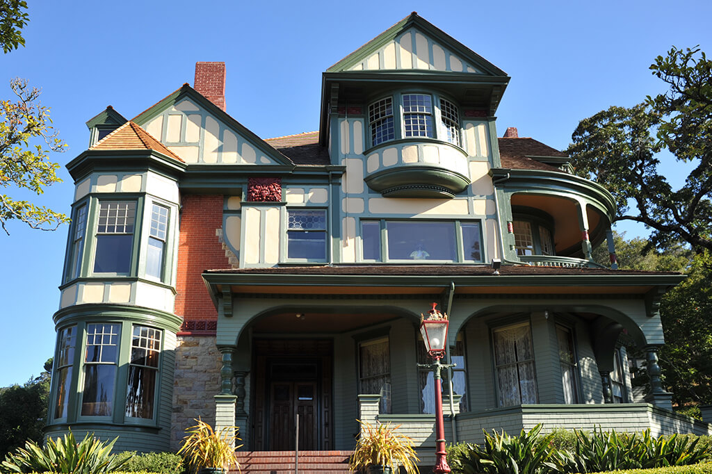 Exterior of Victorian home