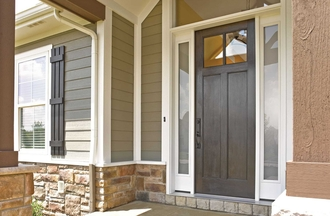 Window World Woodgrain Entry Door