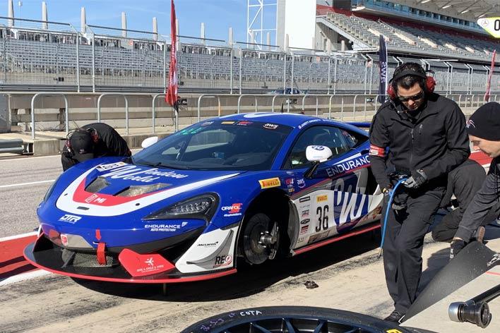 Jarett Andretti's GT4 race car