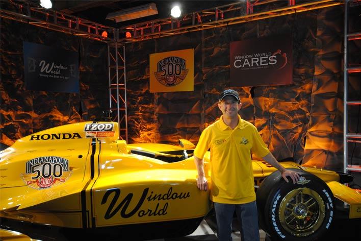 John Andretti with Stinger race car