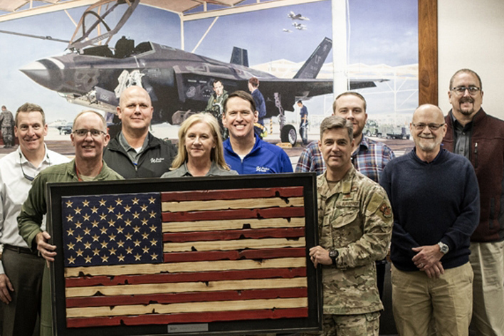Window World CEO, executive team, and important military members at Luke Air Force Base