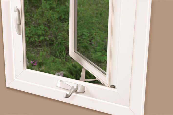 An open casement window