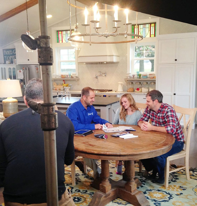 Jamin and Ashley during in-home consultation