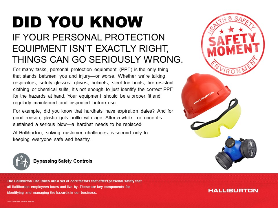 The importance of the right personal protection equipment