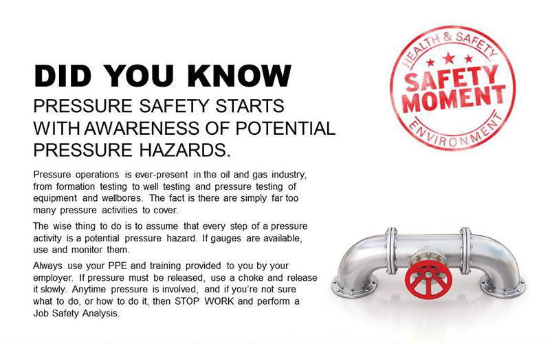 Pressure safety starts with pressure hazard awareness