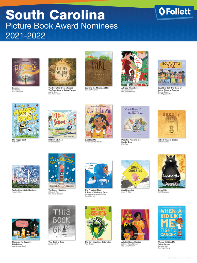 South Carolina Picture Book 2021-2022 State Award Poster