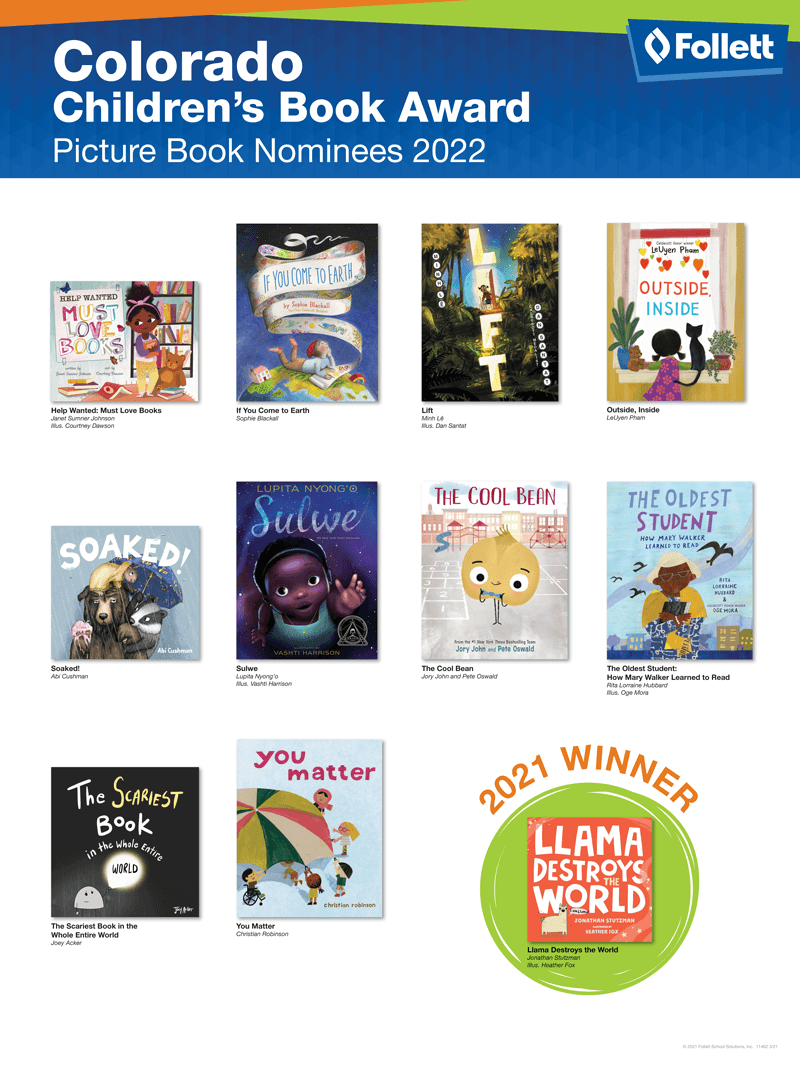 Colorado Childrens Picture Book Award 2022 State Award