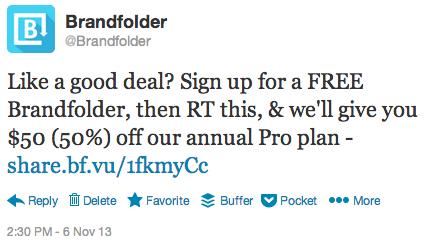 Brandfolder tweet