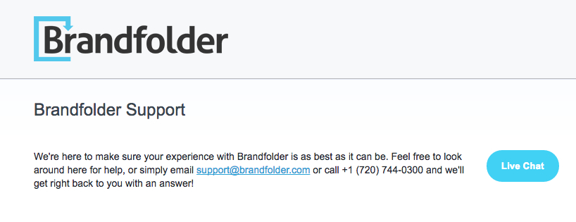 Brandfolder support