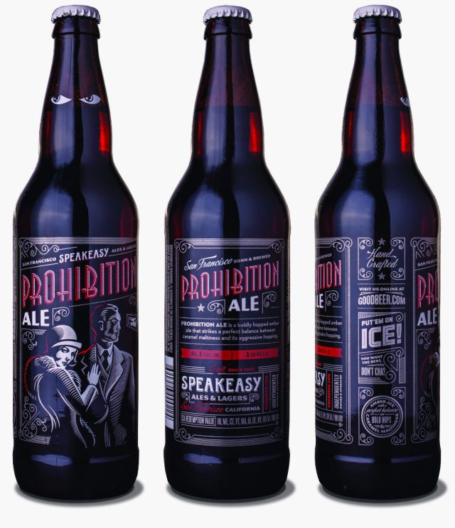 speakeasy prohibition beer bottle packaging