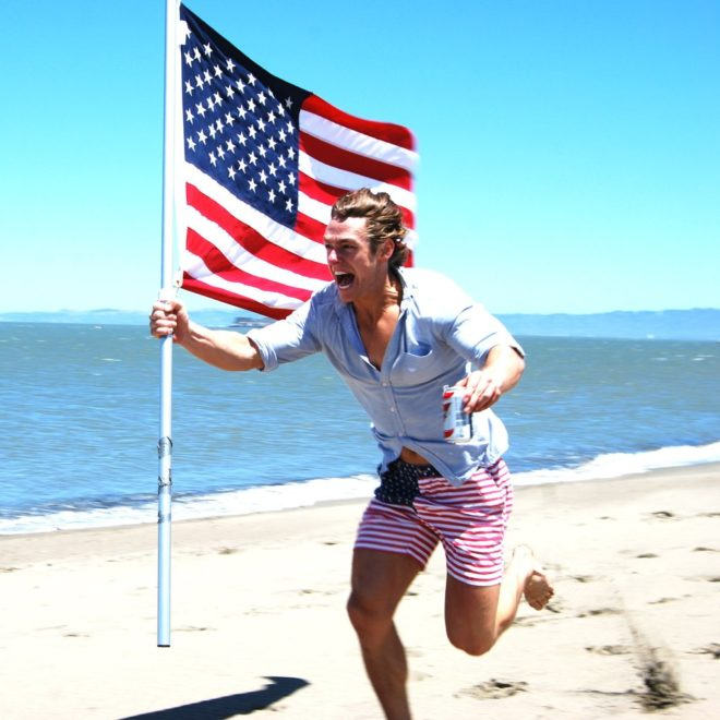 Chubbies shorts with American flag print