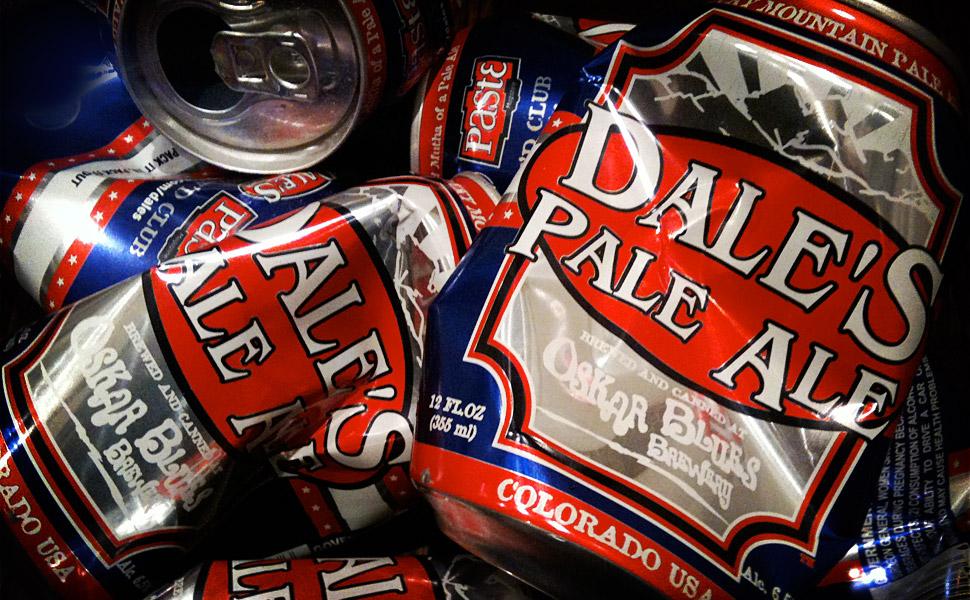 Oskar Blues beer cans