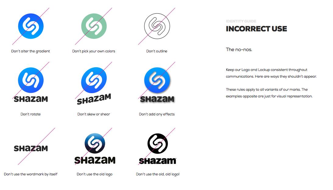 Shazam logos