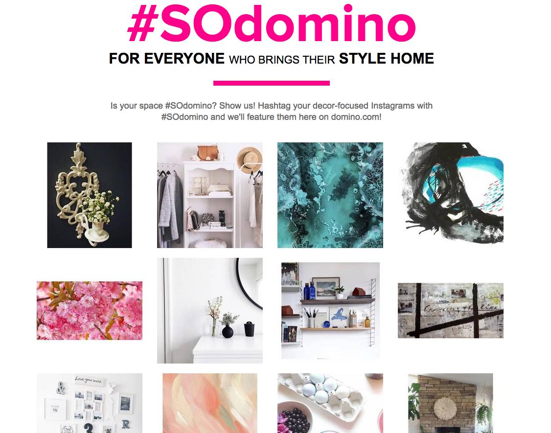 Domino Magazine instagram