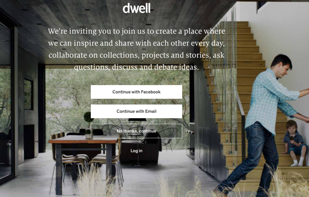 Dwell sign up