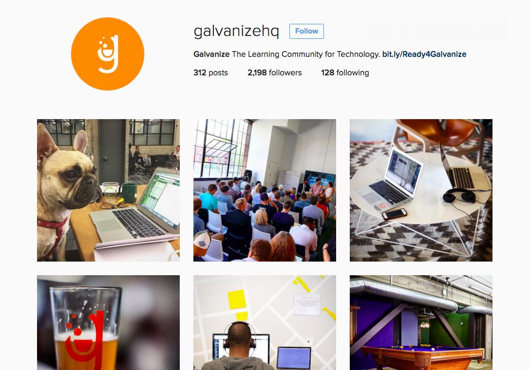 Galvanize instagram