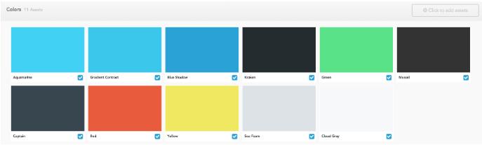 Brandfolder color section