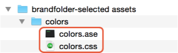 color .ASE file