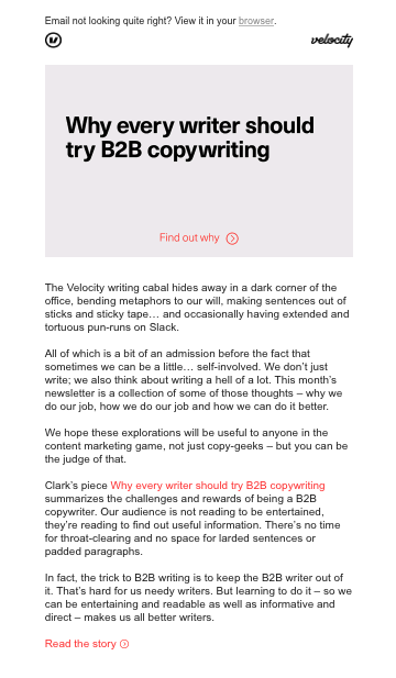 Velocity email