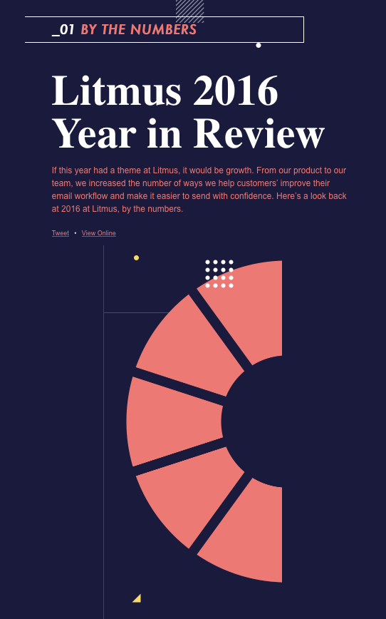 Litmus year in review email