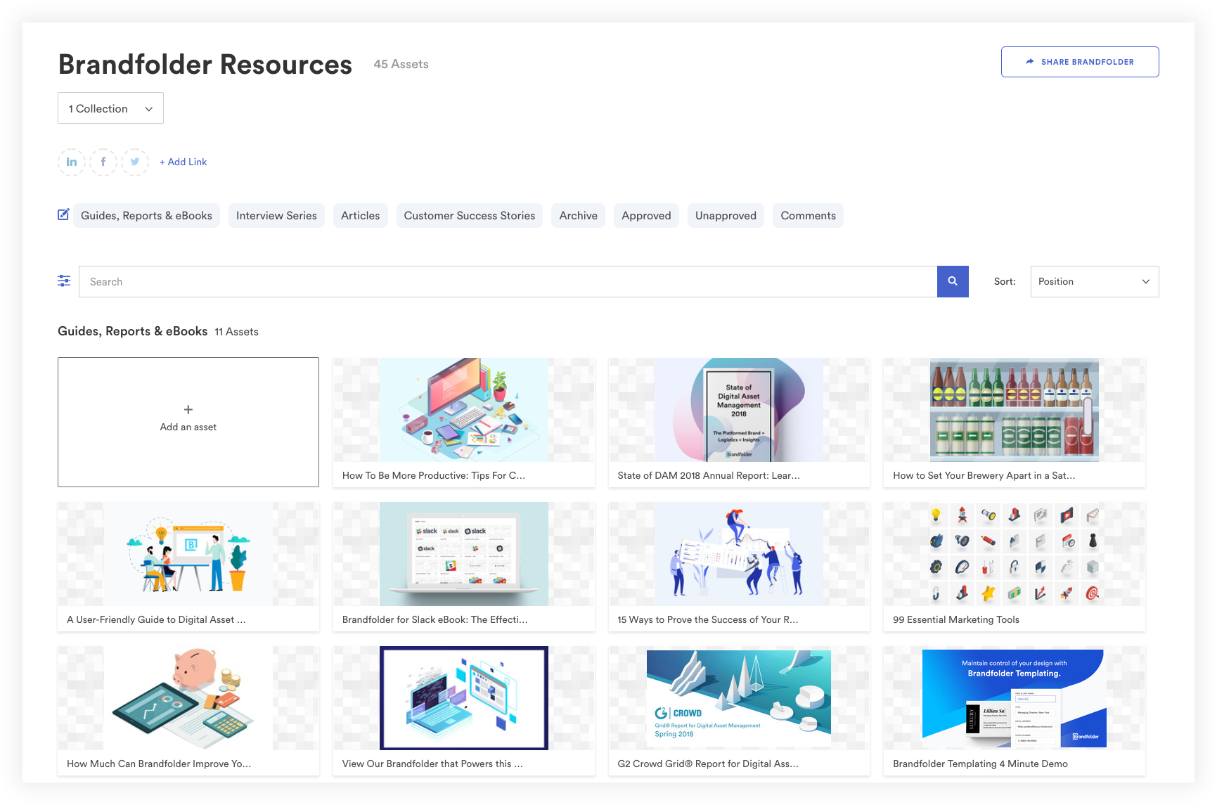 Brandfolder Resources page