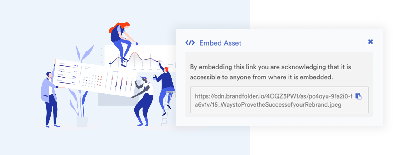 example of embedding asset with CDN